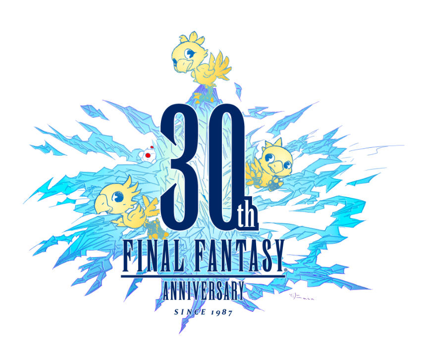 logo trentennale final fantasy