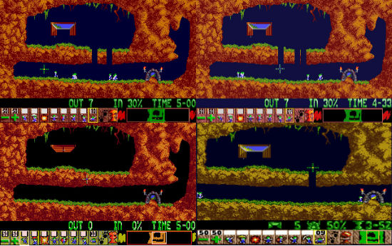 Lemmings (Amiga, Atari ST, Sega Genesis, DOS)