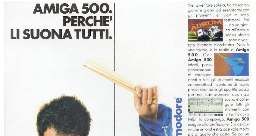 volantino Amiga 500