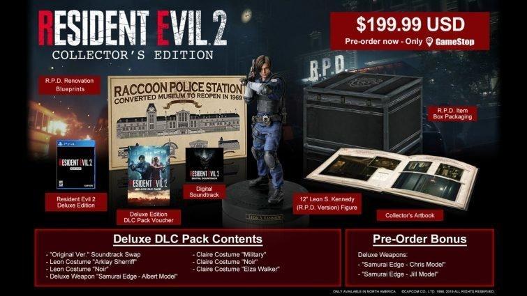 Resident Evil 2 remake contenuti collector edition