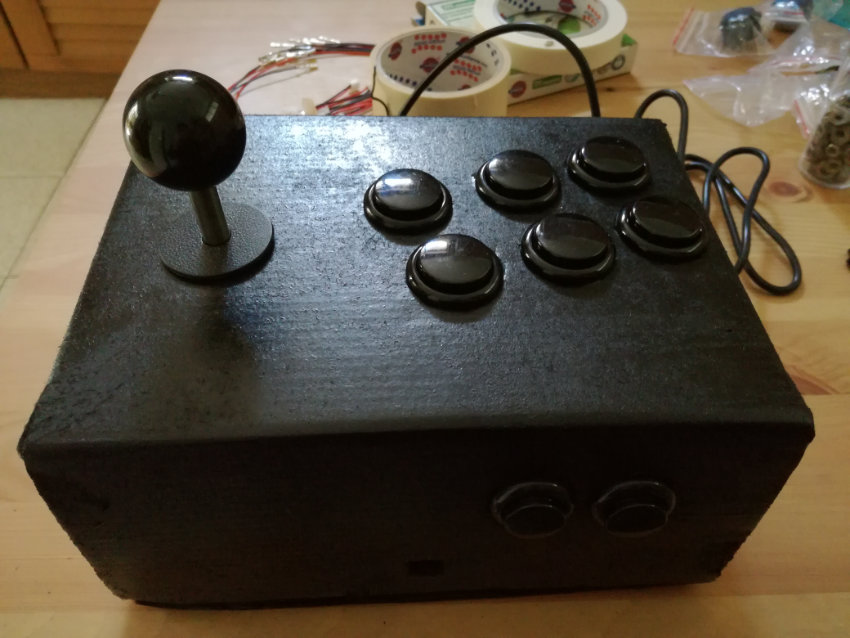 arcade stick fatto in casa