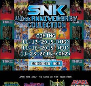 snk 40th anniversary per switch