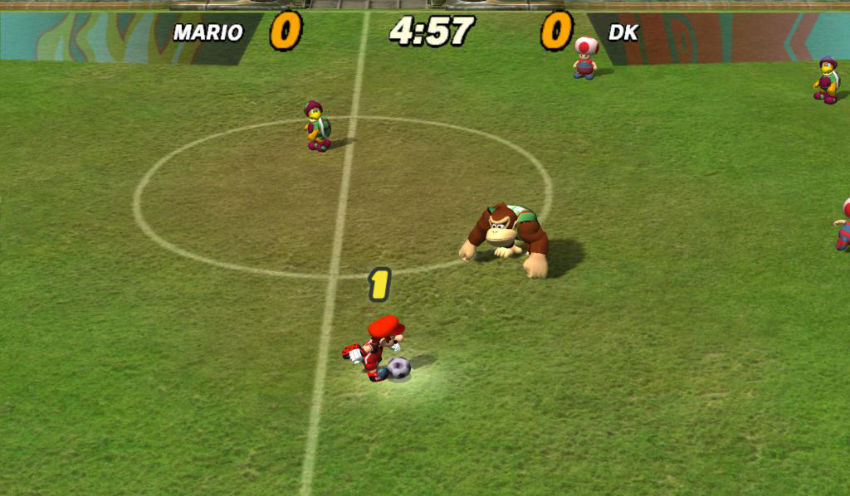 Super Mario Stikers per Gamecube