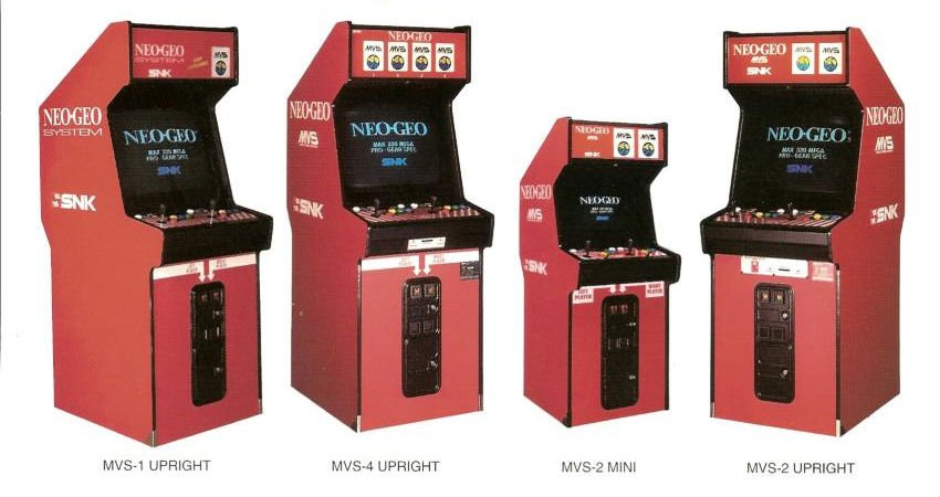 Neo Geo Mvs versioni